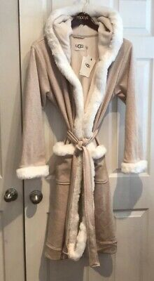 e362518b15 UGG  198 DUFFIELD Deluxe II Robe Beige With White Faux Fur XL ...