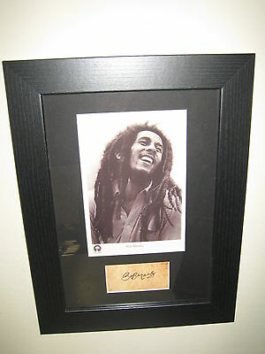 Bob Marley A Gorgeous Framed Photograph (8x12) Excellent Present