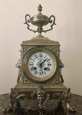 Make Offer(s): Beautiful Antique 19Century French Empire Mantle Clock (incl Key)