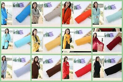 US Seller- 10 plain fashion casual light weight shawls Womens Scarves & Wraps