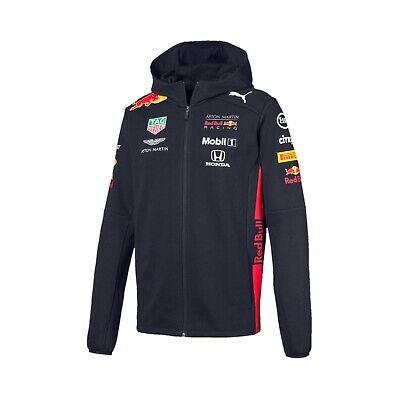 Aston Martin Red Bull Racing F1 Official Men's Team Hooded Sweat Jacket 2019 XL