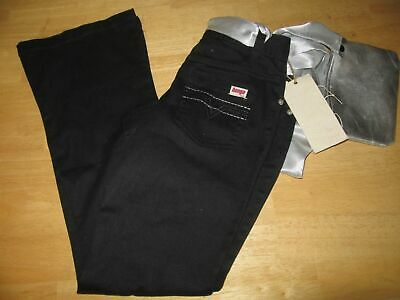 7 for All Mankind Girls Black Maggee Cropped Cargo Pants #7FBYG121 14 NWT