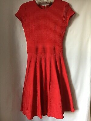 LADIES RED SKATER Dress By TED BAKER Size 2 (M) -  63.32  8a665234b
