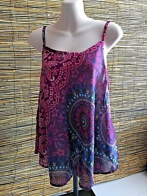 Wholesale bulk lot of 5 rayon strappy tops.Summer fashion.Fits many sizes.Cool!!