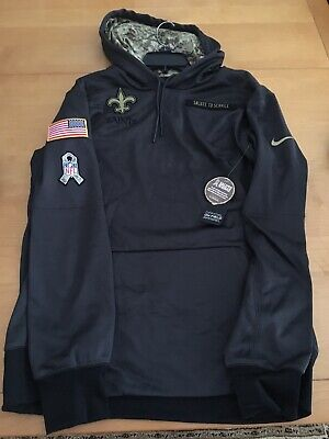 quality design 04ff2 65145 NIKE GRAY NEW ORLEANS SAINTS Salute To Service Hoodie Men's ...