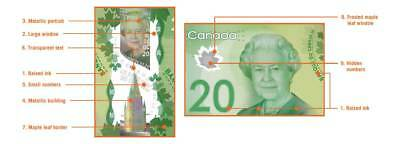 CANADA/CANADIAN New $20 Polymer Banknote ISSUE of 2012 (Gem UNC)