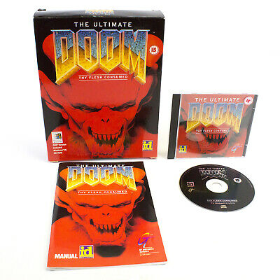 The Ultimate Doom Thy Flesh for PC CD-ROM in Big Box by id Software, 1995