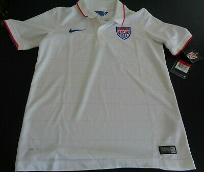 1a9e7c4bd56 USA United States Soccer NIKE Polo Shirt Jersey 578018-105 Youth LARGE New  2014