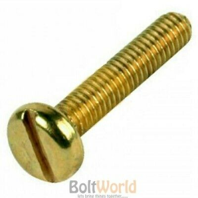 M3 M4 M5 M6 A2 Solid Brass Slotted Machine Screws Metric Pan Head Bolts Din85
