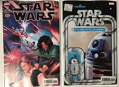STAR WARS #61 - Cover A & Christopher Action Figure Variant - NM - Marvel