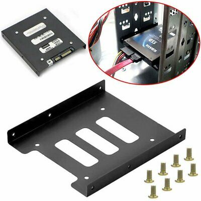 """2.5"""" SSD HDD to 3.5"""" Mounting Adapter Bracket Tray Dock for PC SSD Holder Black"""