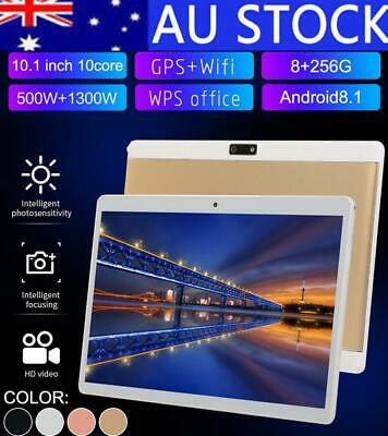 "HD 10.1"" Tablet 10 Core 8G+256G Android 3G Wifi Bluetooth Call PC Laptop Camera"