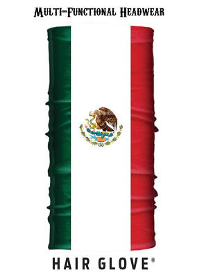 Hair Glove® Wind Resistant EZ Tube Mexican Flag 54615 Multi-Function Neck Scarf