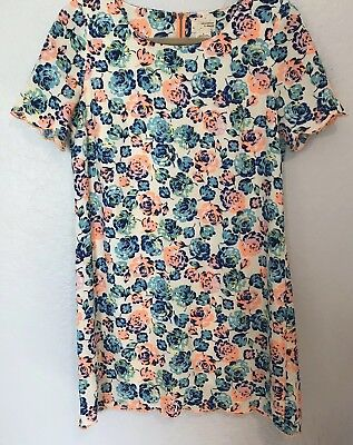 32e375bc5a5 Urban Outfitters Coincidence   Chance Womens Size Small Neon Floral Dress