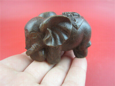 Collectible Chinese antique Hand-carved woodcarving elephant pendant ornaments