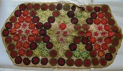"""Antique - Early 20th century Canadian penny rug - 49"""" x 26½"""""""