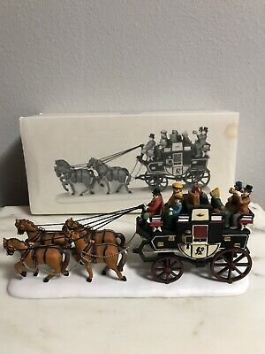 "Dept 56 Heritage Village Collection ~ ""Holiday Coach"" ~ Dickens 4 Horse Coach +"
