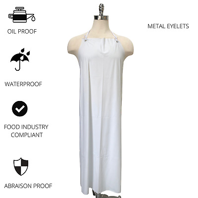 PVC Apron  820 x 1180 Cloth Ties Ideal for Food Processing Meat/Seafood/Poultry