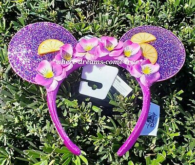 Disney Minnie Mouse ears Headband Epcot Flower & Garden Festival Violet Lemonade