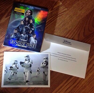 Rogue One: A Star Wars Story (Blu-ray/DVD/Digital HD + EXCLUSIVE RARE LITHOGRAPH
