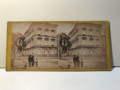 New York Union Club House USA Foto Stereo Vintage Albumin