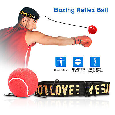 3PCS Fight Ball Reflex Boxing Trainer Training Boxer Speed Punch String Ball USA