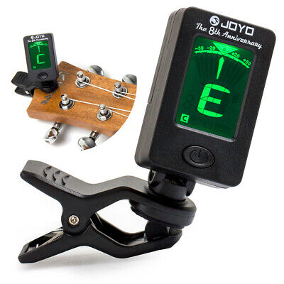 Chromatic Clip-On Digital LCD Tuner for Acoustic Guitar Bass Violin Ukulele Oud