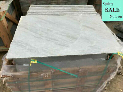 Kandla Grey Sandstone paving 600 x 900 Patio natural Indian slabs flags