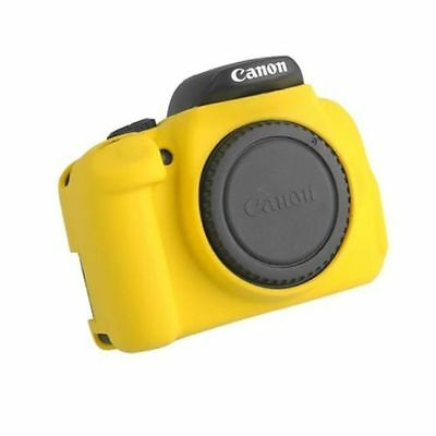 Yellow Silicone Skin Soft Case Cover Protector Canon 650D / 700D / Rebel T4i