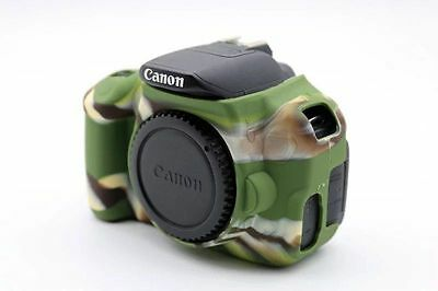 Camouflag Silicone Skin Soft Case Cover Protector Canon 650D / 700D / Rebel T4i