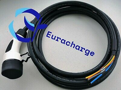 Type 2 MENNEKES EV Tethered Charging Cable 5m long 32Amps 3-PHASE 22kw STRAIGHT