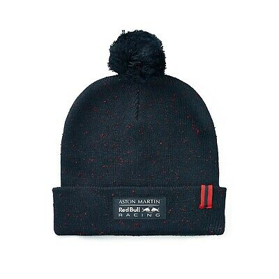 Aston Martin Red Bull Racing F1 Official Adults Bobble Beanie hat - 2019