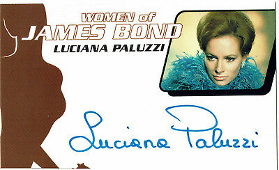 James Bond Women In Motion Autograph Card WA12 Luciana Paluzzi as Fiona Volpe