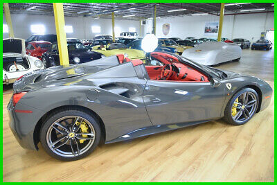 2017 Ferrari 458  2017 Ferrari 488 Spider  Rare Grigio Scuro over Rosso Leather  Low Miles