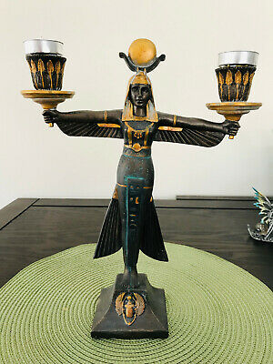 Golden Isis Candle holders