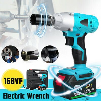 4000RPM Cordless Brushless Impact Wrench LED Light Drill 330N.M Torque Tools