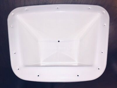 White PVC Boat Bow Anchor Well - Free Postage