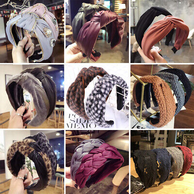 Women Girl Alice Hair Band Hoop Headband Twist Hairband Knot Cross Headwrap Lot