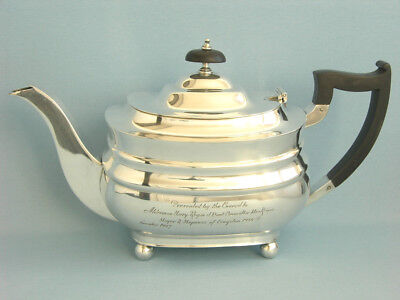 Grosse Teekanne, Massiv Sterlingsilber, Sheffield 1947, 1,25 Liter