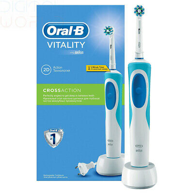 Oral-B vitality cross action rechargeable electric toothbrush 2pin bathroom plug