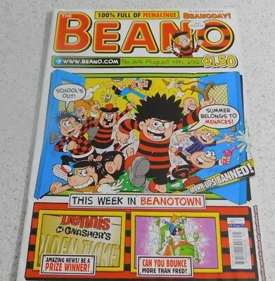 Beano Magazine No 3646 August 9th 2012 Classic Comics