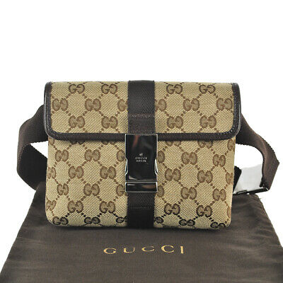a5a9cd10ab0d E81 GUCCI Authentic Waist Pouch Bumbag Belt Bag Fanny Pack Cross Body  Vintage