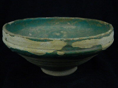 Ancient Large Size Glazed Bowl Islamic 1100 AD  #PT437