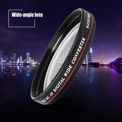 ZOMEI 52/55/58/62/67/72/77MM 0.45X Wide Angle Filter Camera Lens Wide ConvertS@
