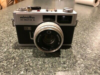 Minolta Hi-Matic E 40mm f/1.7 Rangefinder Film Camera