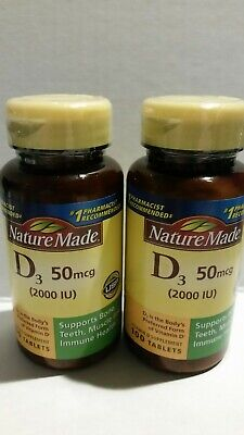 0ddf37506fa Nature Made Vitamin D3 2000 IU Tablets 100 tablets 2 Pack