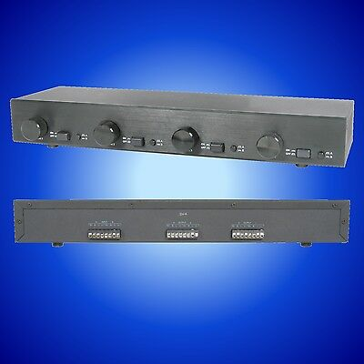 2:4 Speaker Selector Switch 4 Zone 8 Ohm With Volume Controls Avlink 128.303