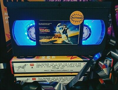 Retro VHS Lamp, Back to the Future,Night Light Stunning Collectable, Top Quality