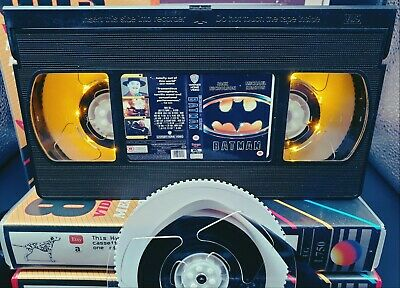 Retro VHS Lamp,Batman,Night Light Stunning Collectible, Top Quality!Amazing Gift