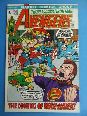 Avengers 98 1972 Classic Barry Smith! Vf+